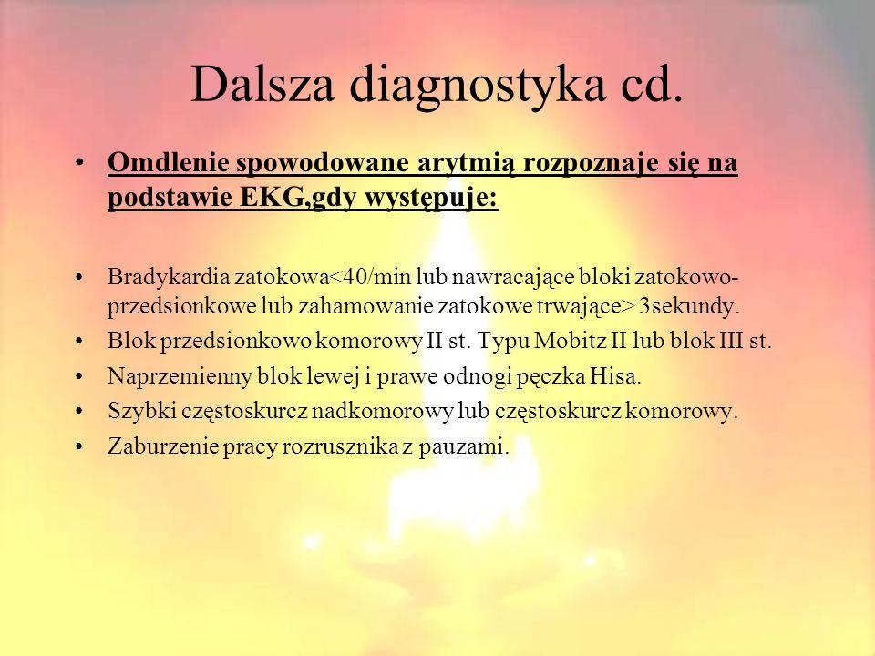 Dalsza diagnostyka cd.