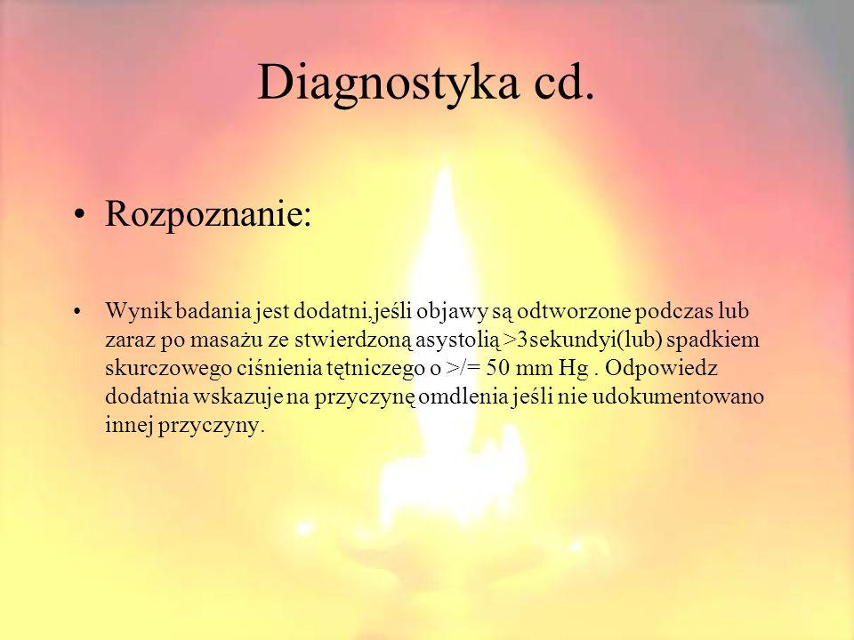 Diagnostyka cd. Test pochyleniowy