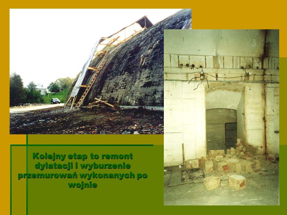 Kolejny etap to remont dylatacji i wyburzenie przemurowań wykonanych po wojnie