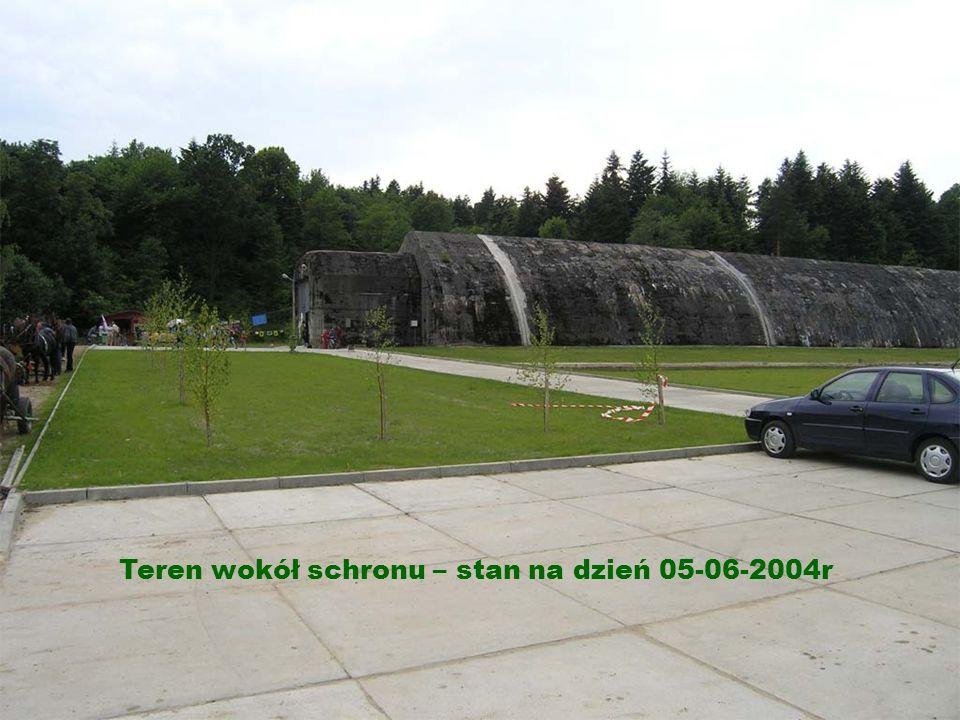 Teren wokół schronu – stan na dzień 05-06-2004r