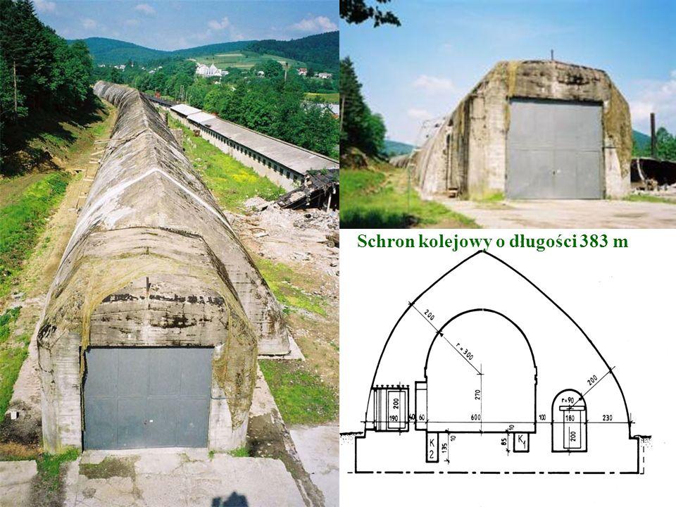 Schron kolejowy o długości 383 m