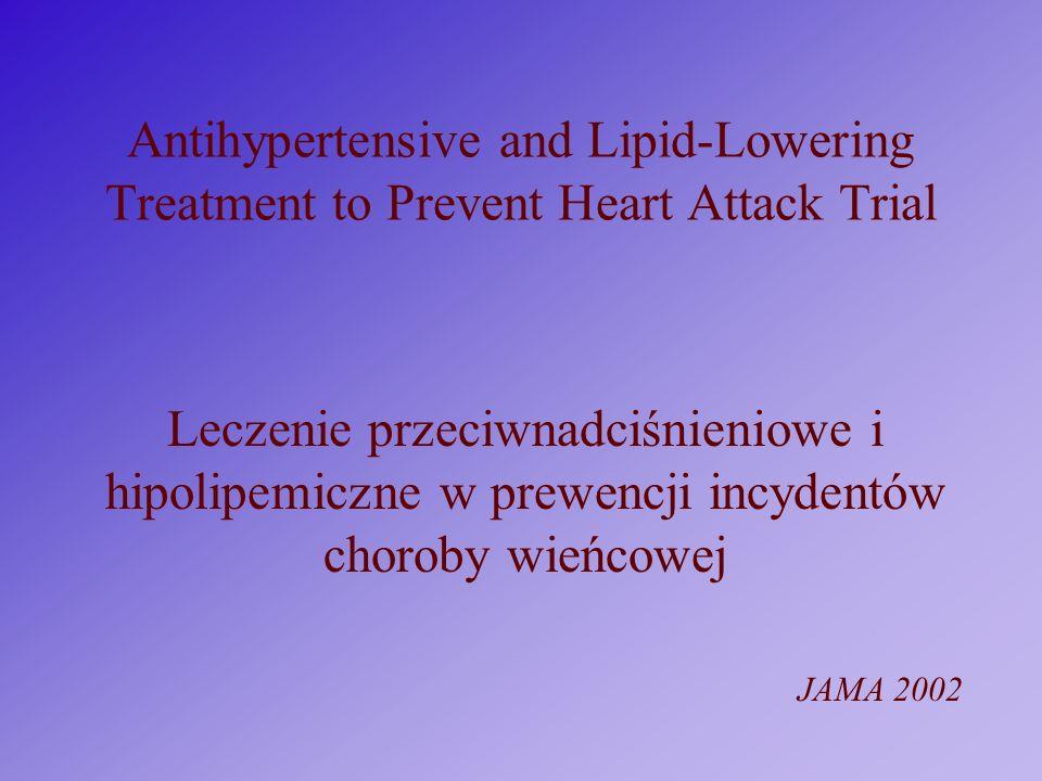 Antihypertensive and Lipid-Lowering Treatment to Prevent Heart Attack Trial Leczenie przeciwnadciśnieniowe i hipolipemiczne w prewencji incydentów cho