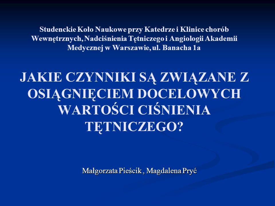 Studenckie Koło Naukowe przy Katedrze i Klinice chorób Wewnętrznych, Nadciśnienia Tętniczego i Angiologii Akademii Medycznej w Warszawie, ul. Banacha