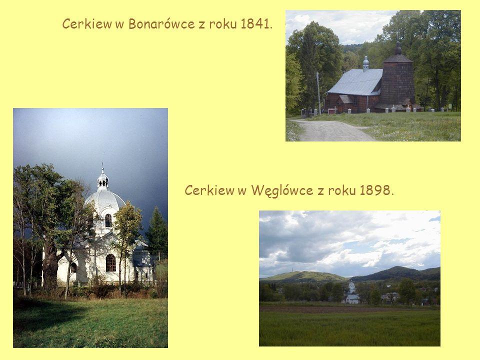 Cerkiew z Rzepniku z roku 1917. widok od frontu wnętrze