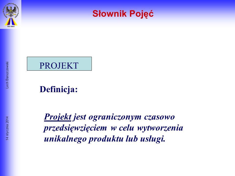 14 stycznia 2014 Lech Barszczewski Dlaczego Plany się nie udają? Cele korporacji nie są zrozumiałe na niższych szczeblach organizacji Plan obejmuje zb