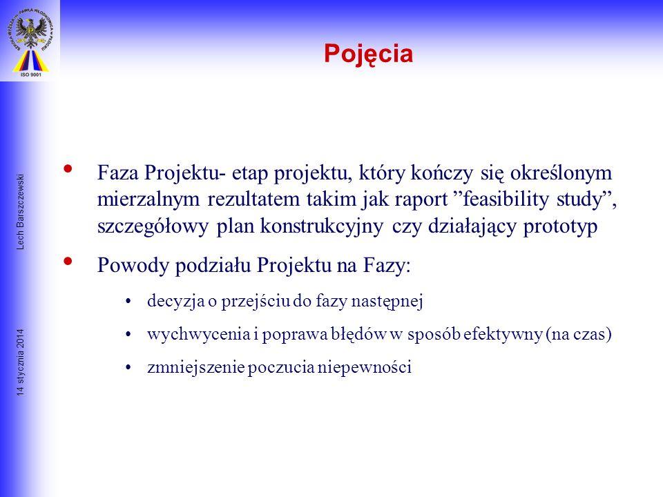 14 stycznia 2014 Lech Barszczewski Przedsięwzięcie- zespół celowych działań główna forma aktywności firmy oprócz operacji Czasowość- projekt ma zawsze