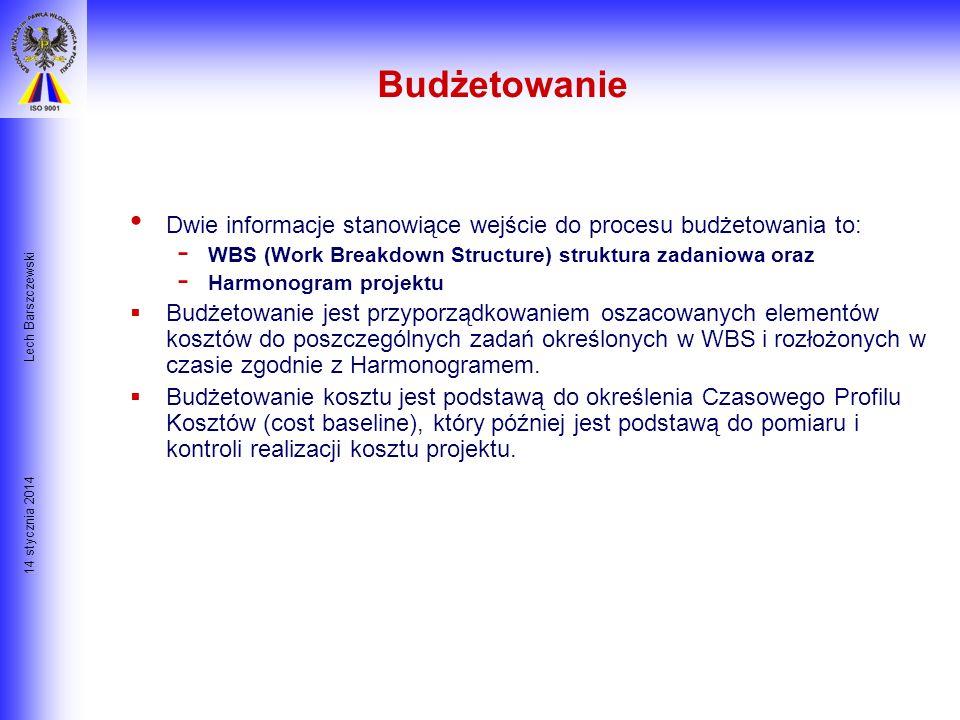 14 stycznia 2014 Lech Barszczewski Bilansowanie Zasobów- Rozwiązanie