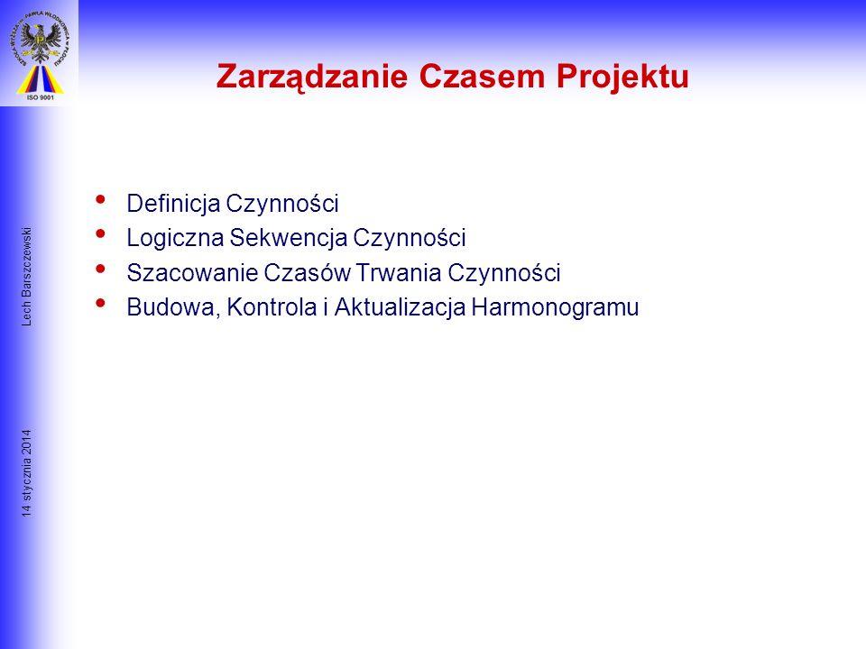 14 stycznia 2014 Lech Barszczewski Typowe przyczyny inicjacji projektu: 1. Problem- niepożądana sytuacja, która wymaga rozwiązania w postaci sekwencji