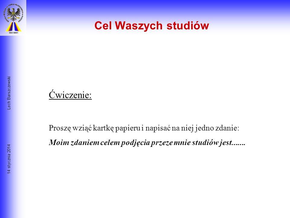 14 stycznia 2014 Lech Barszczewski Co sądzisz o następującym stwierdzeniu? Nie ma złych decydentów, są tylko dobrzy decydenci, gdyż każdy wybiera najl