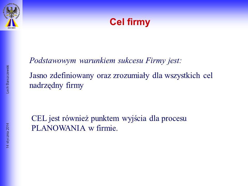14 stycznia 2014 Lech Barszczewski Cel Waszych studiów Ćwiczenie: Proszę wziąć kartkę papieru i napisać na niej jedno zdanie: Moim zdaniem celem podję