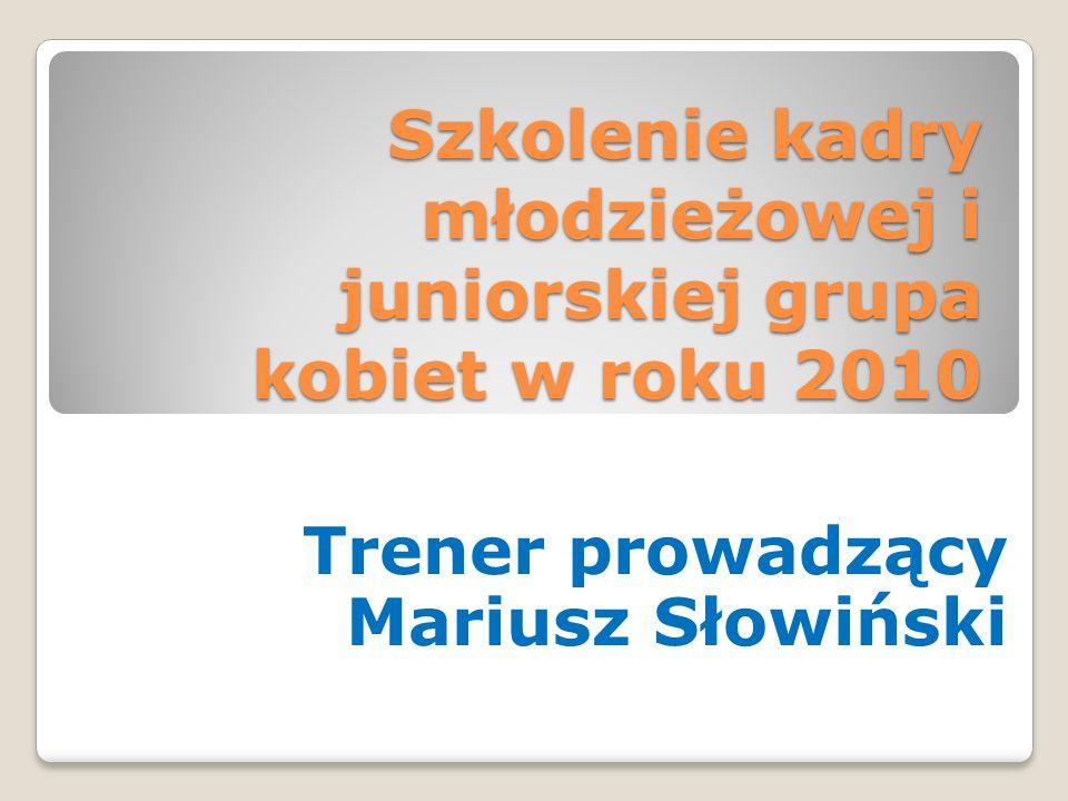Propozycja Szkolenia Kadry Młodzieżowej i Juniorskiej grupa kobiet na 2011 rok 1.