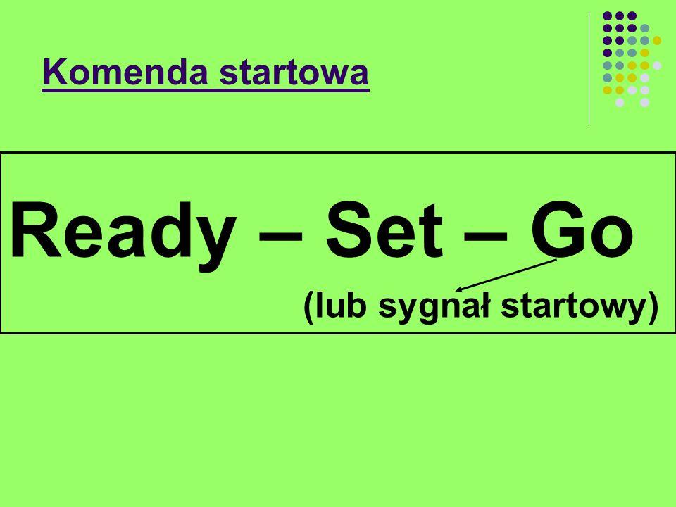 Komenda startowa Ready – zawodnicy są na linii startu w wyznaczonych torach.