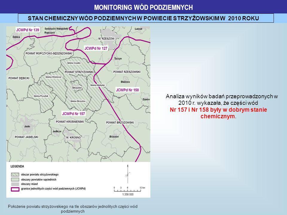 MONITORING WÓD PODZIEMNYCH STAN CHEMICZNY WÓD PODZIEMNYCH W POWIECIE STRZYŻOWSKIM W 2010 ROKU Położenie powiatu strzyżowskiego na tle obszarów jednoli