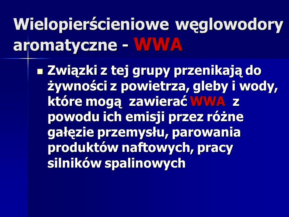 WWA Wydzielanie WWA do atmosfery towarzyszy wszystkim procesom spalania zachodzącym w wysokiej temperaturze m.in.