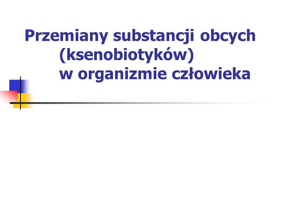 Biotransformacja Reakcje II fazy – prowadzą z reguły do utworzenia produktów mniej toksycznych niż związek pierwotny, a więc są to reakcje detoksykacji