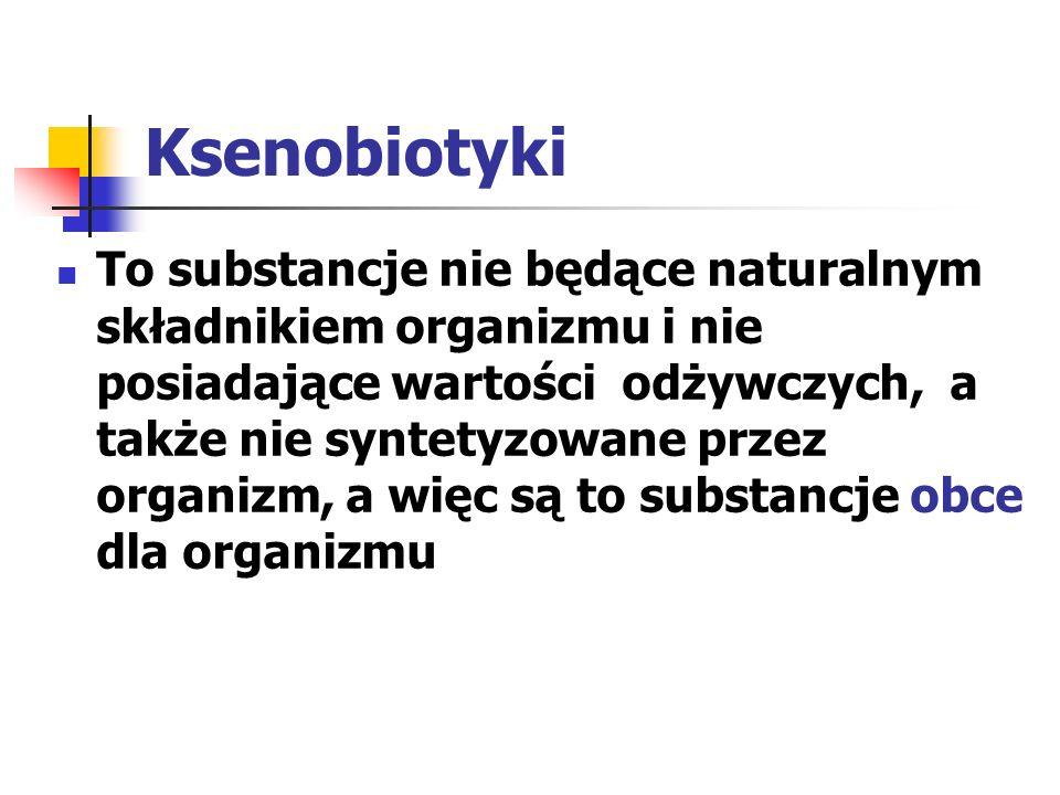 Metabolizm substancji obcych w organizmie Etapy: wchłanianie (absorpcja) rozmieszczenie (dystrybucja) przemiany biochemiczne (biotransformacja) wydalanie