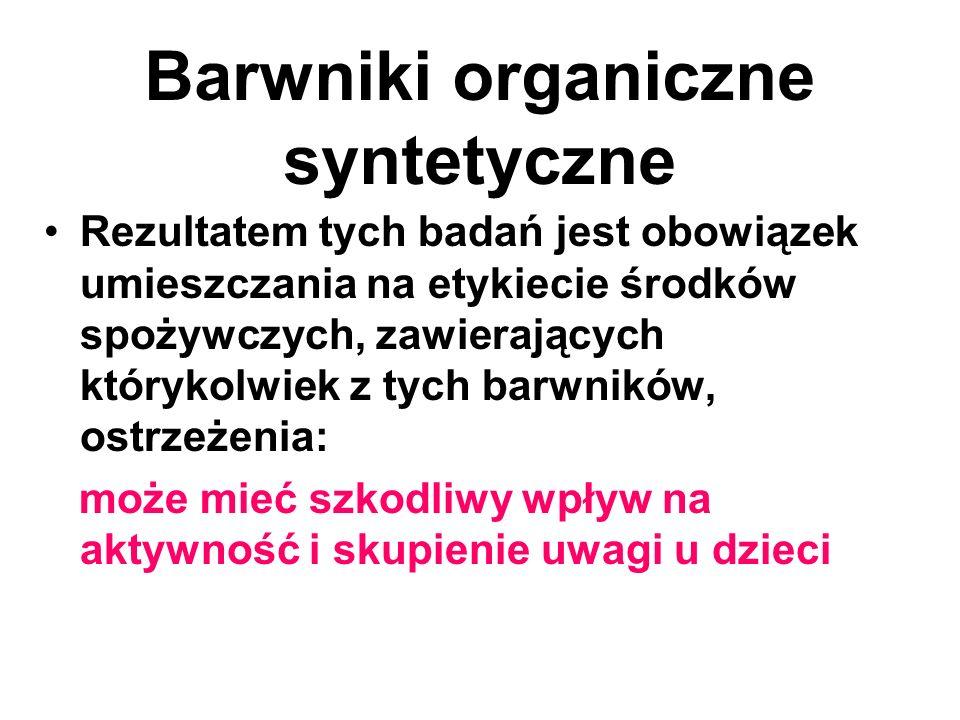 Barwniki organiczne syntetyczne W 2009r.