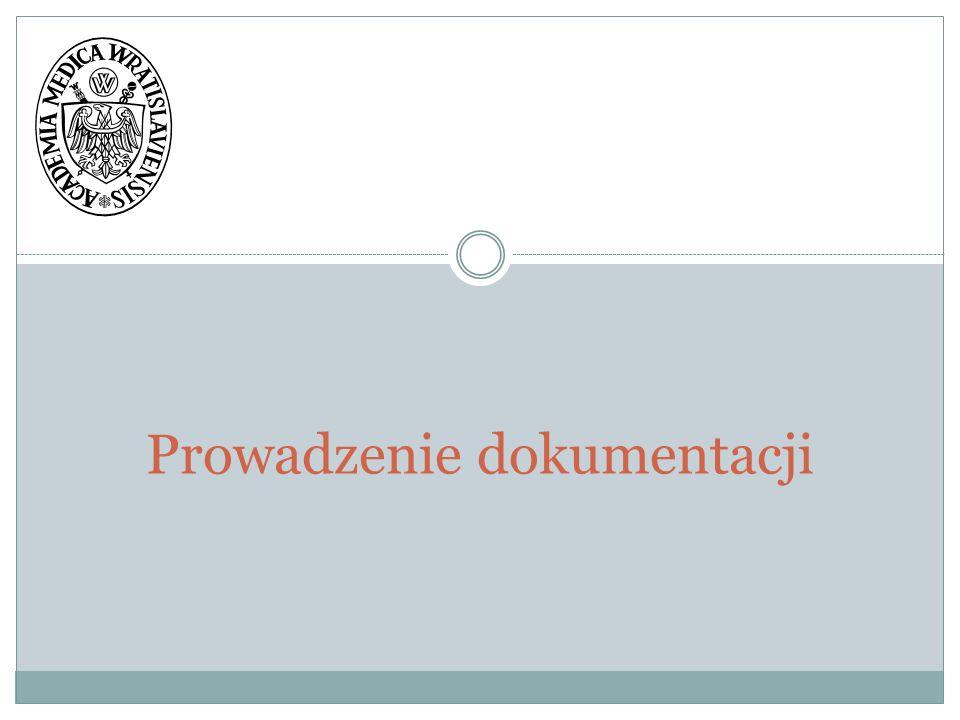 I.Dokumenty prowadzonych zajęć dydaktycznych katedry II.