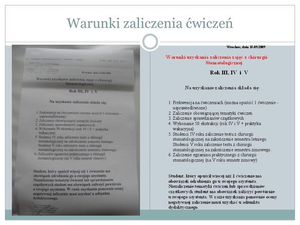 Zasady przeprowadzenia egzaminu dyplomowego Wrocław,16/09/2009 Kierownik Katedry Dr hab.