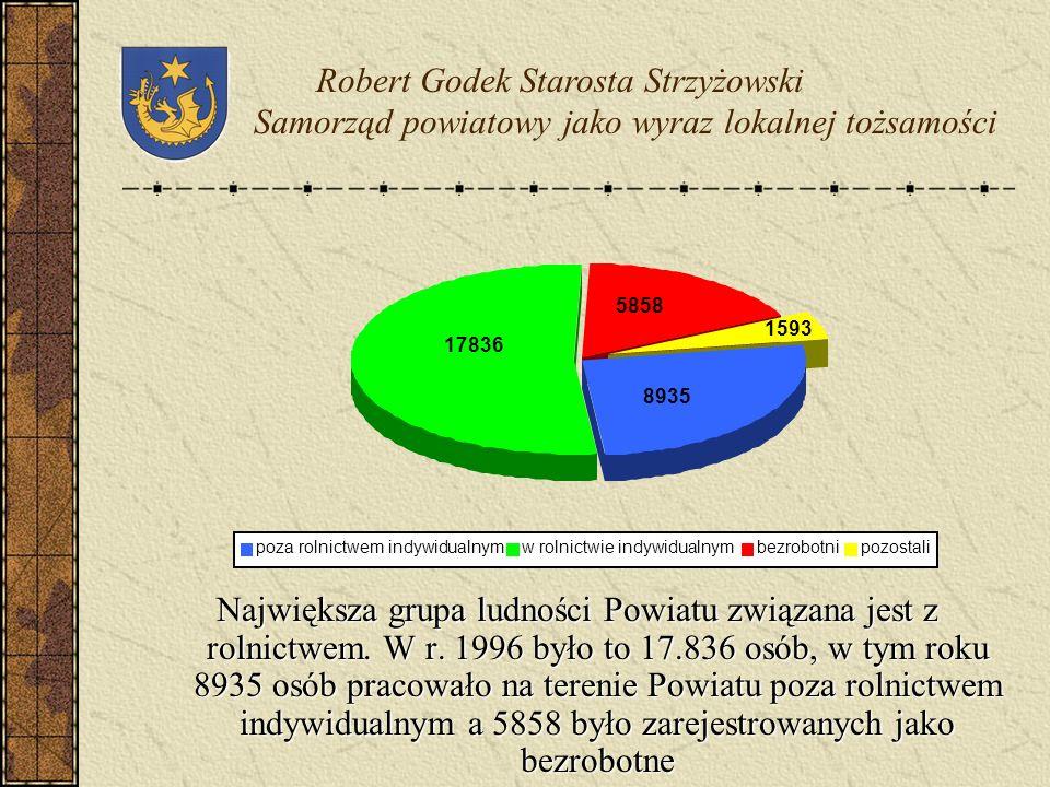 Pod względem rozwoju gospodarczego Powiat Strzyżowski zajmuje niską pozycję konkurencyjną na tle innych powiatów Województwa Podkarpackiego PRODUKCJA