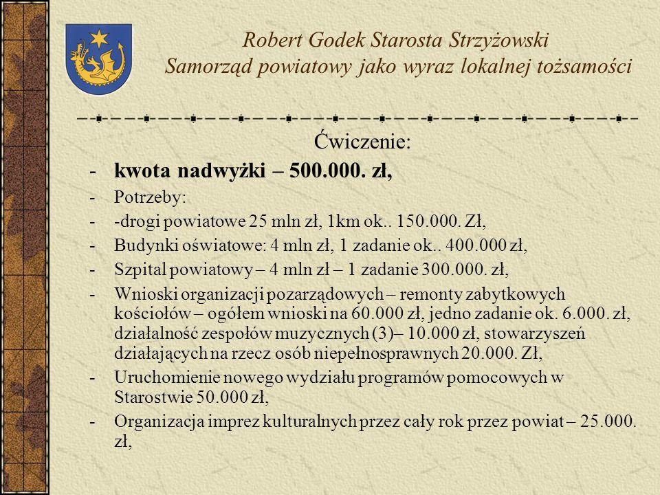 Środki finansowe w budżecie samorządowym, złożone wnioski do programów pomocowych (PAOW, SAPARD, PHARE), rezerwy celowe w budżecie państwa pozwoliły n