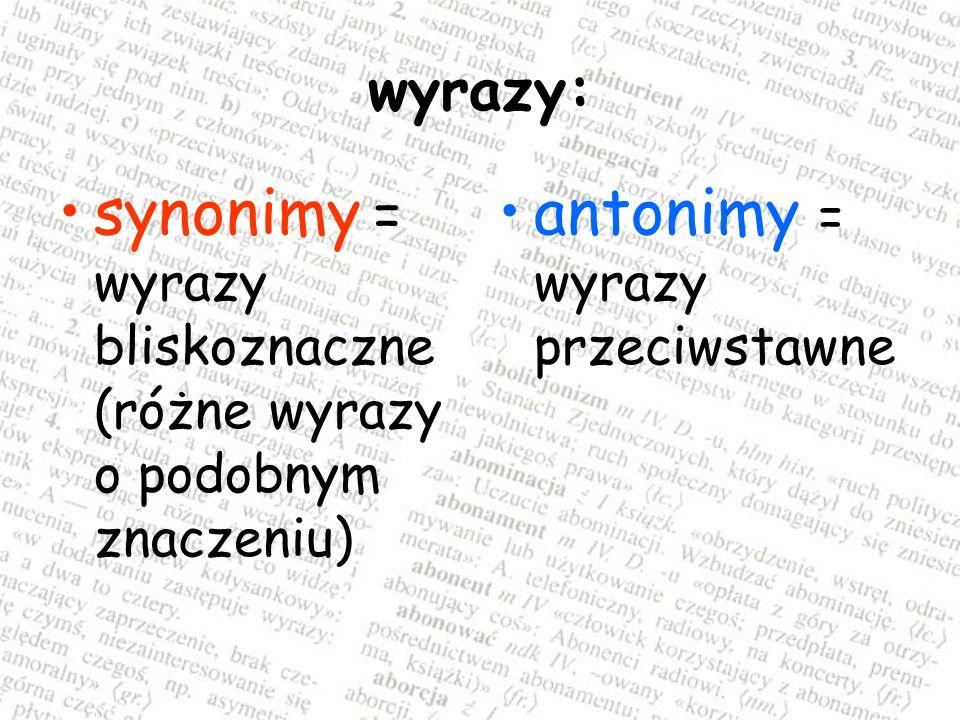 Podaje informacje o: właściwym znaczeniu wyrazu poprawnych formach gramatycznych poprawnym brzmieniu wyrazu i wymowie właściwym użyciu w zdaniu formach niepoprawnych, których należy się wystrzegać