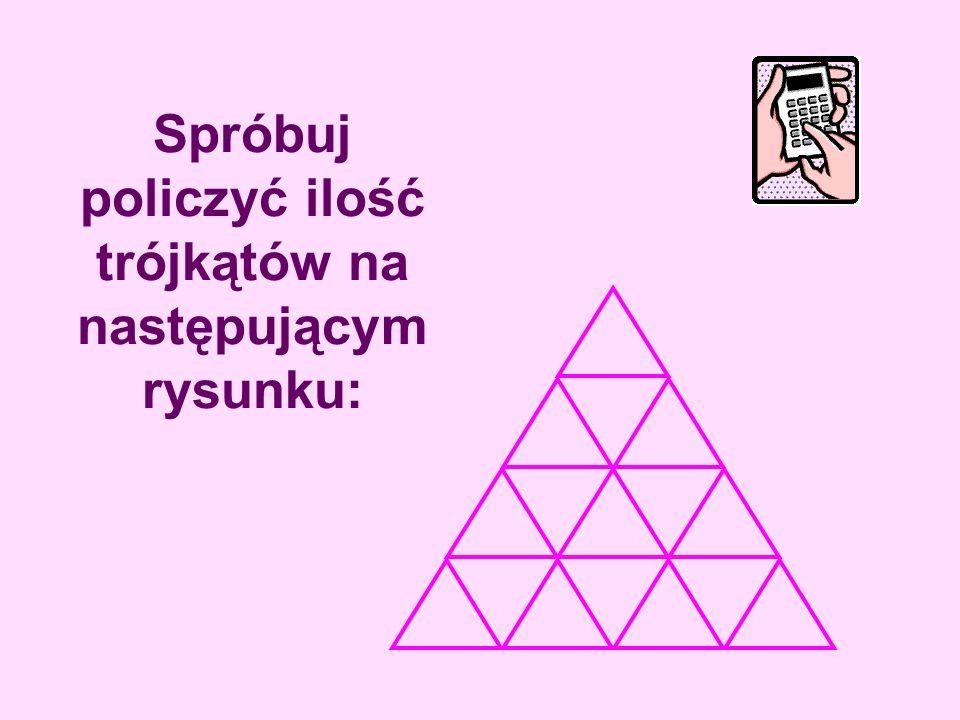 Spróbuj policzyć ilość trójkątów na następującym rysunku: