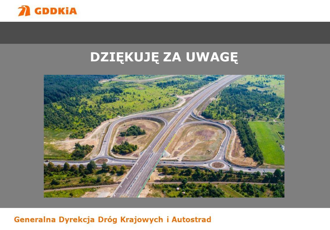 Generalna Dyrekcja Dróg Krajowych i Autostrad DZIĘKUJĘ ZA UWAGĘ