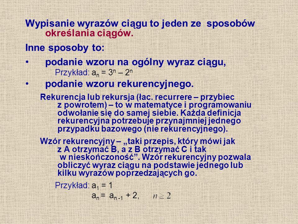 Przykład 1.Jaki jest następny wyraz w ciągu: 3, 5, 7, ….