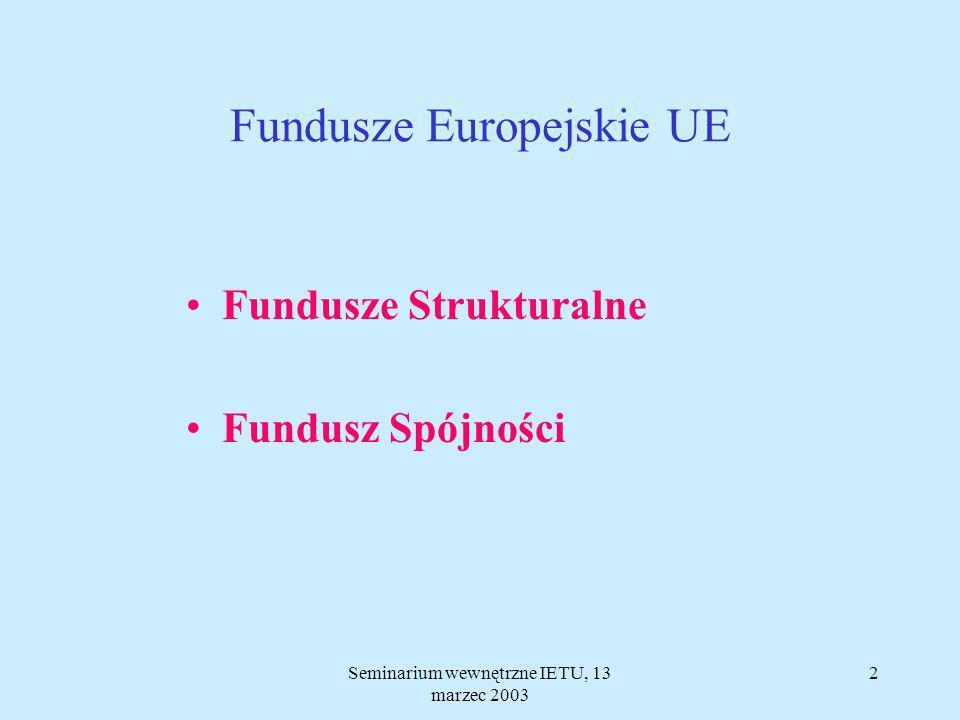 12 Inicjatywy Wspólnoty INTERREG - ERDF LEADER -EAGGF URBAN - ERDFEQUAL - ESF Współpraca przygraniczna, międzynarodowa, międzyregionalna.