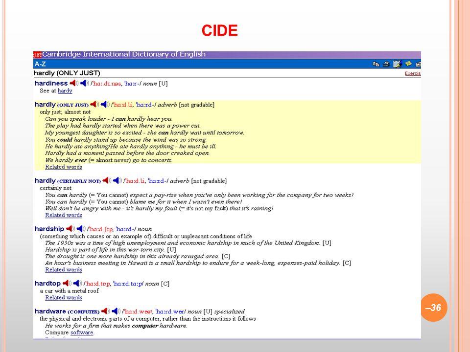 CIDE (1995) –36 CIDE