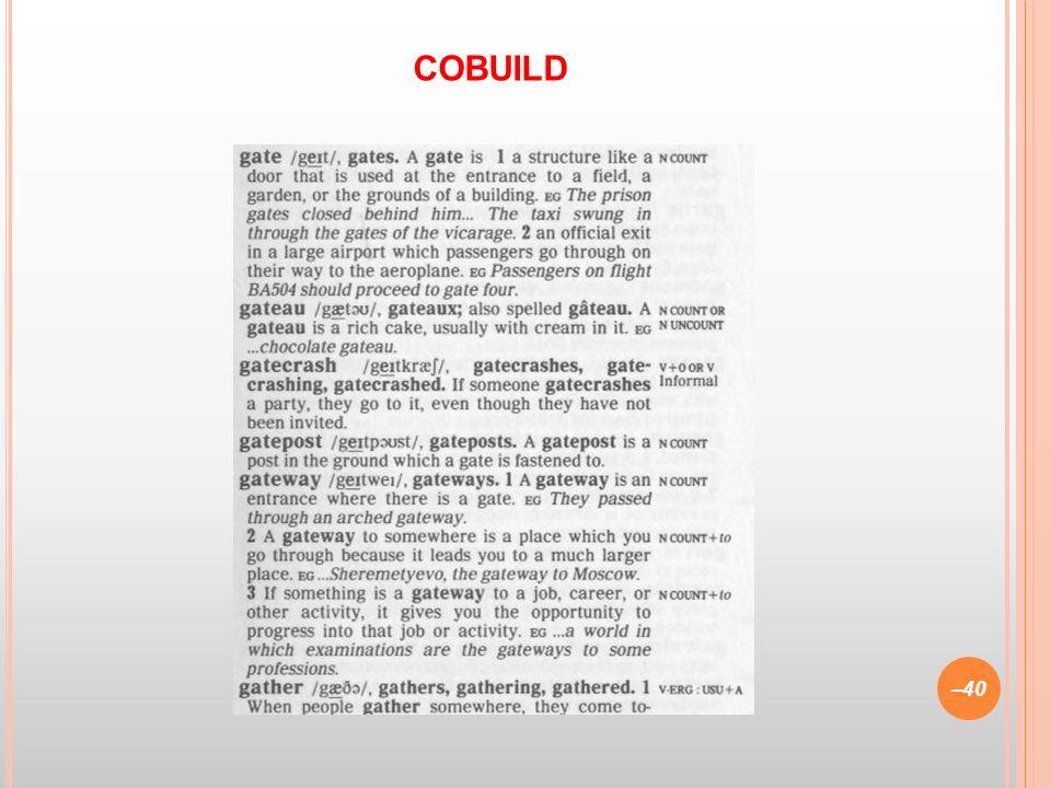 –40 COBUILD