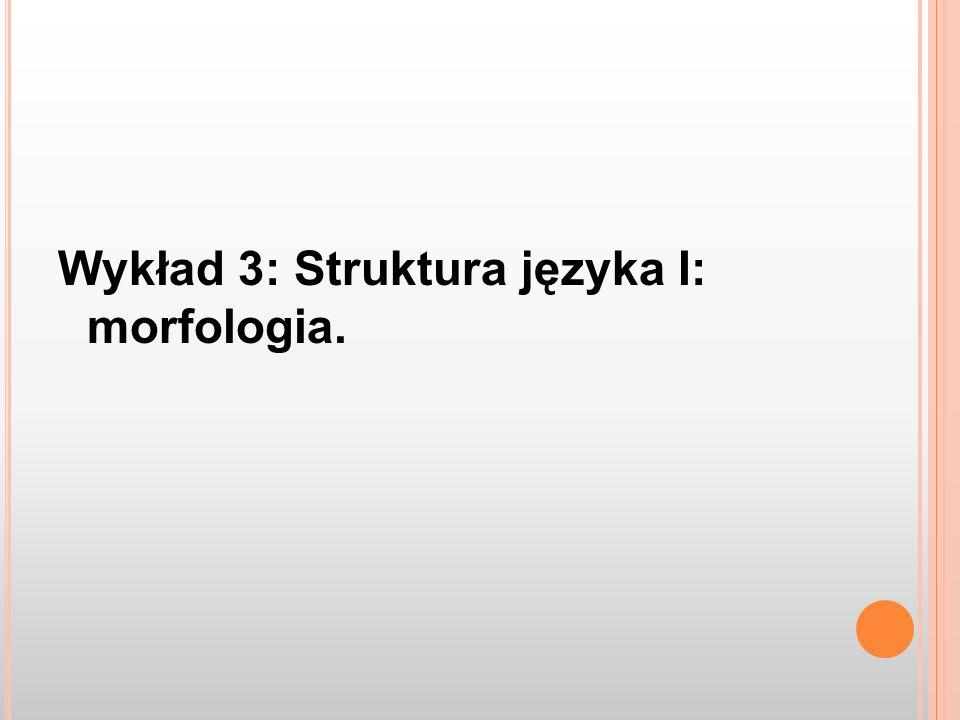 Ad 3.: tonie Leksem A TONjakTROP TONAjakSŁOMA TOŃjakCHUĆ TONĄĆjakPĘKNĄĆ –34 Analiza morfologiczna