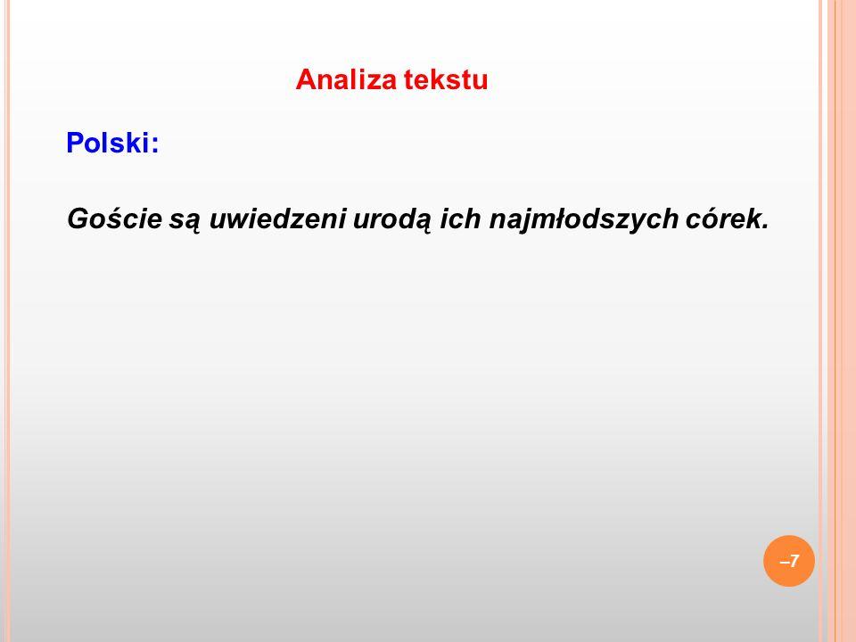–48 Problemy: a.końcówki wspólnofunkcyjne i ich dystrybucja, b.
