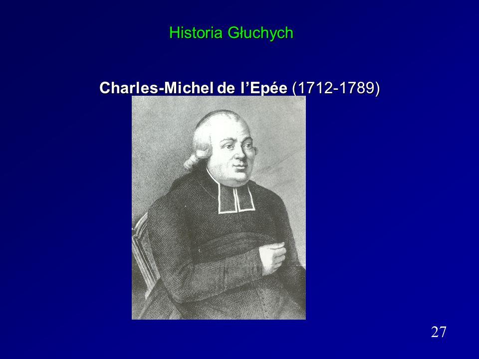 Historia Głuchych Charles-Michel de lEpée (1712-1789) 27