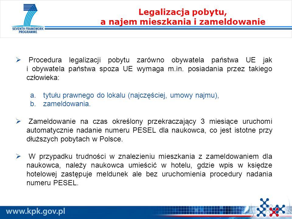 Procedura legalizacji pobytu zarówno obywatela państwa UE jak i obywatela państwa spoza UE wymaga m.in. posiadania przez takiego człowieka: a. tytułu