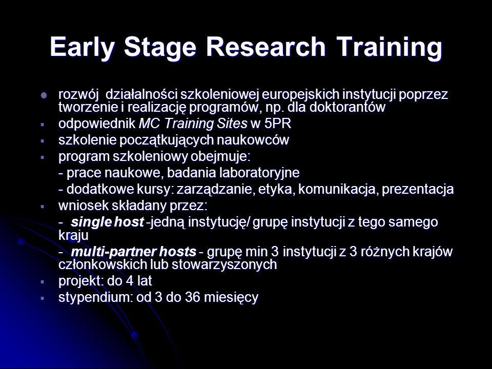 rozwój działalności szkoleniowej europejskich instytucji poprzez tworzenie i realizację programów, np. dla doktorantów rozwój działalności szkoleniowe