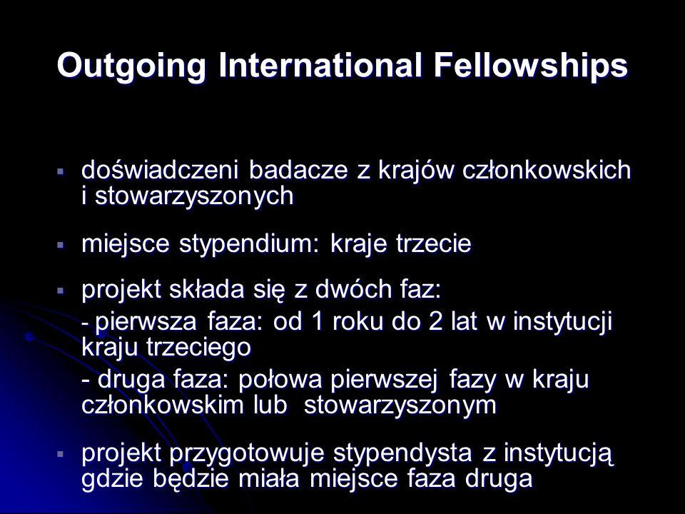 doświadczeni badacze z krajów członkowskich i stowarzyszonych doświadczeni badacze z krajów członkowskich i stowarzyszonych miejsce stypendium: kraje
