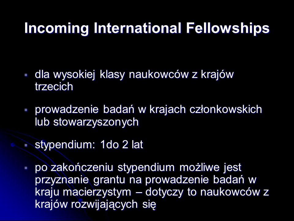 dla wysokiej klasy naukowców z krajów trzecich dla wysokiej klasy naukowców z krajów trzecich prowadzenie badań w krajach członkowskich lub stowarzysz