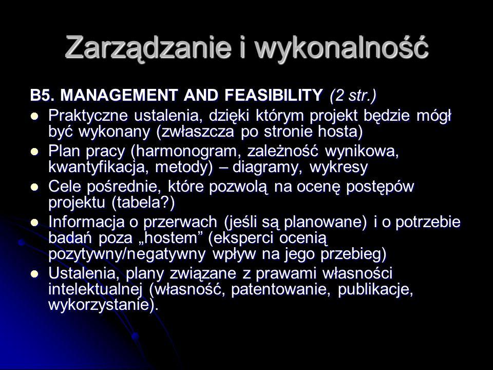 Zarządzanie i wykonalność B5.