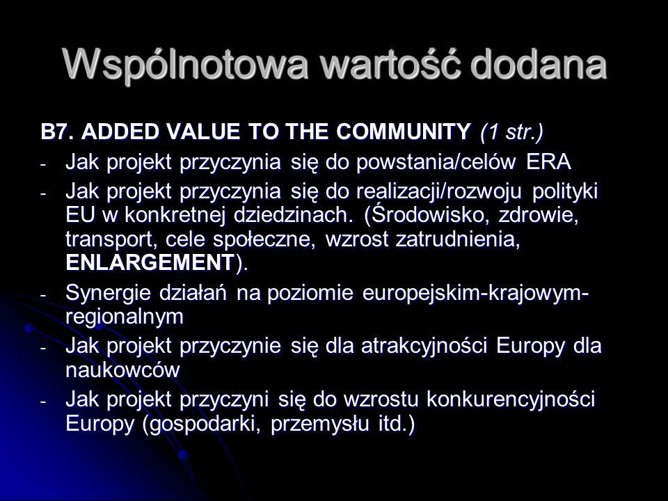 Wspólnotowa wartość dodana B7.