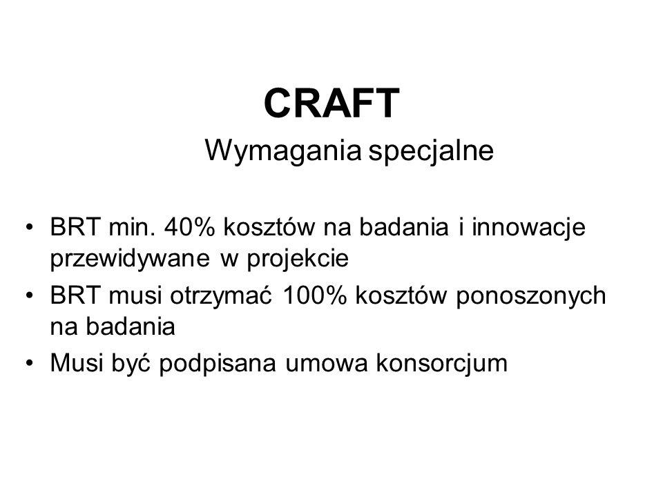 CRAFT Wymagania specjalne BRT min.