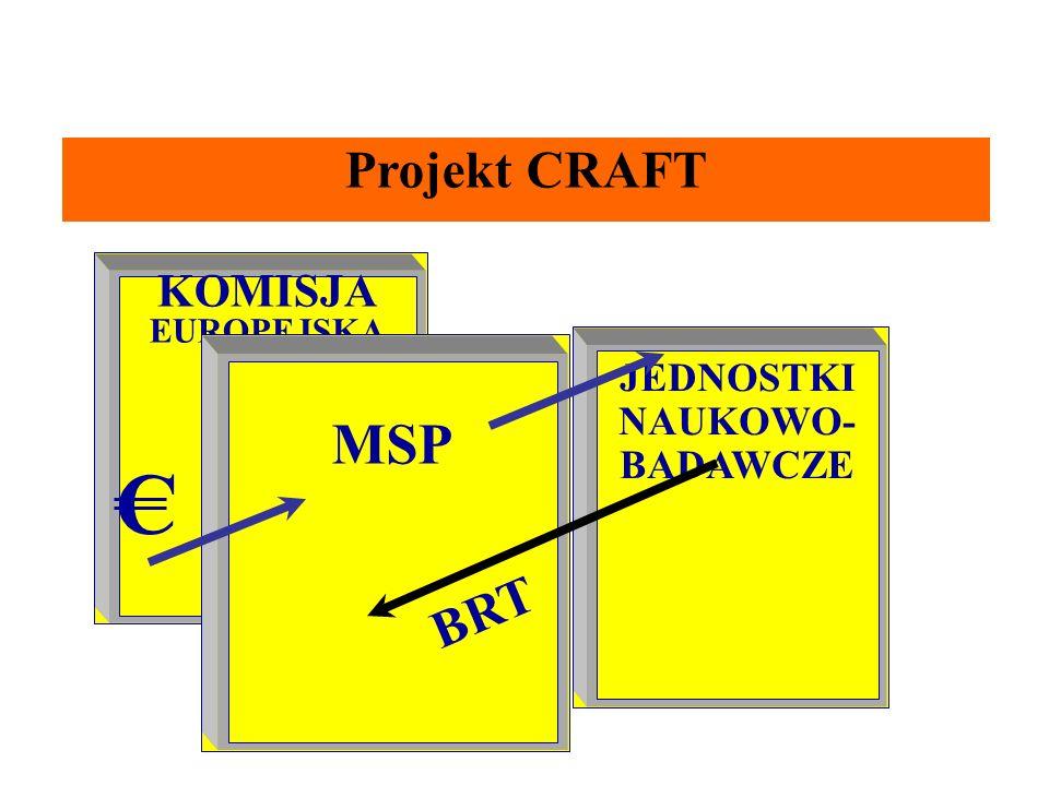 Projekt CRAFT KOMISJA EUROPEJSKA JEDNOSTKI NAUKOWO- BADAWCZE MSP C BRT