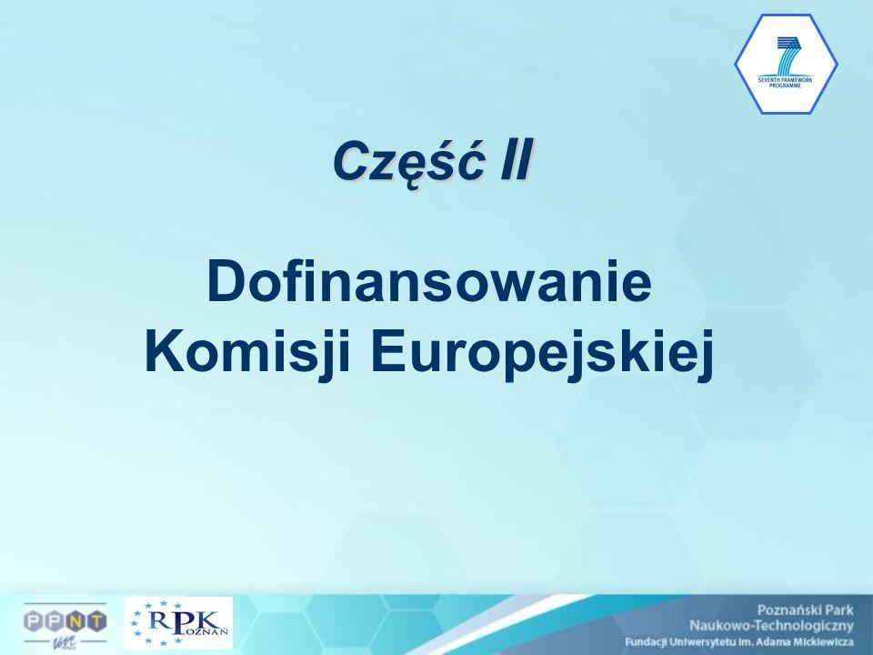 Część II Dofinansowanie Komisji Europejskiej