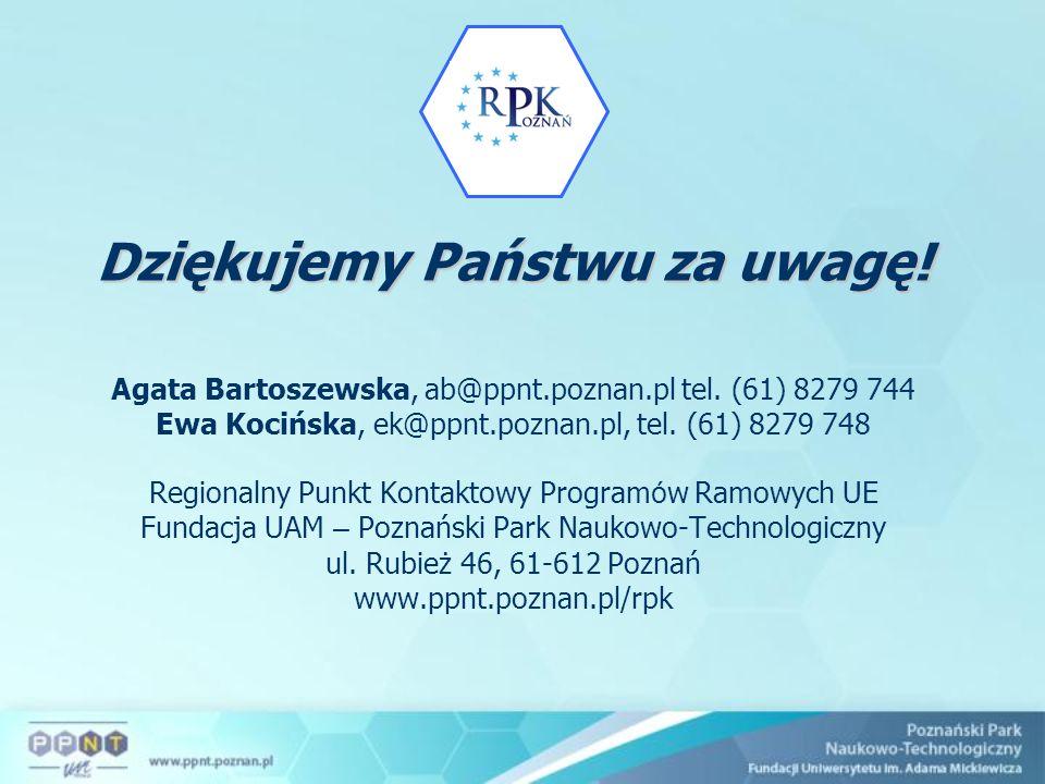 Agata Bartoszewska, ab@ppnt.poznan.pl tel. (61) 8279 744 Ewa Kocińska, ek@ppnt.poznan.pl, tel. (61) 8279 748 Regionalny Punkt Kontaktowy Program ó w R