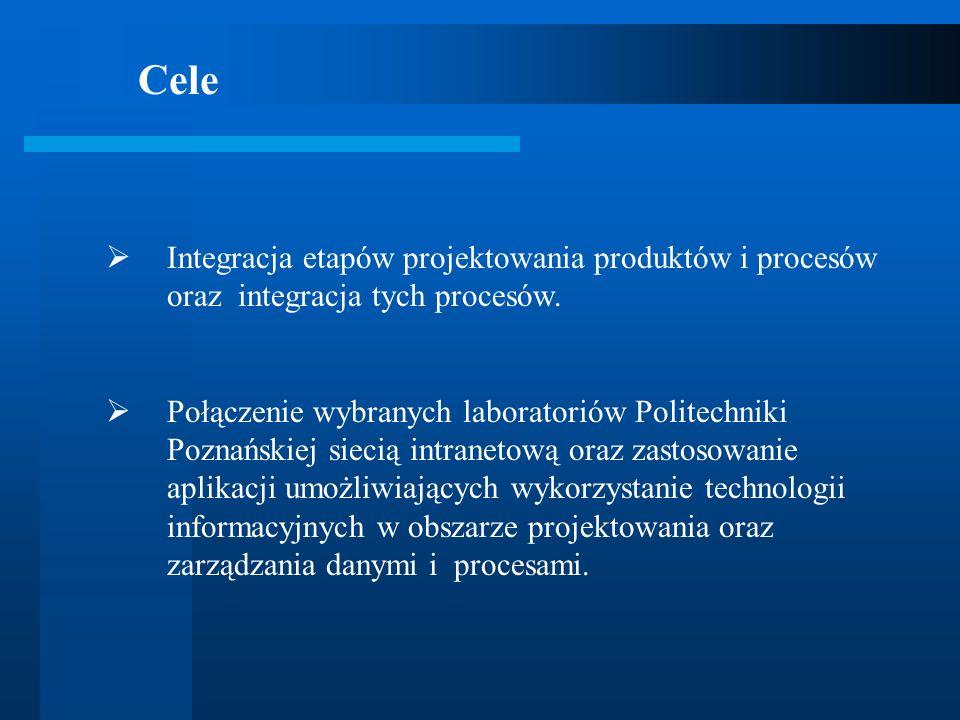Integracja etapów projektowania produktów i procesów oraz integracja tych procesów. Połączenie wybranych laboratoriów Politechniki Poznańskiej siecią