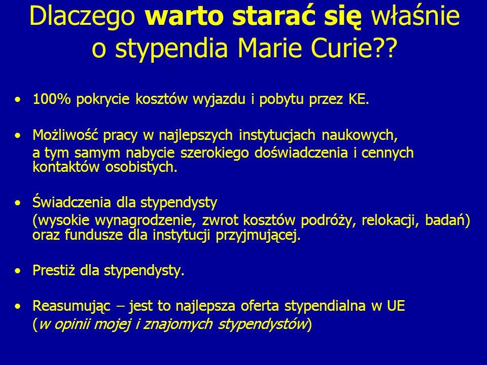 Dlaczego warto starać się właśnie o stypendia Marie Curie?.