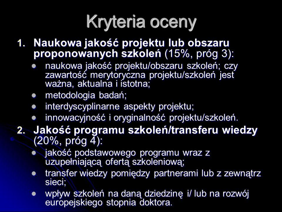 Kryteria oceny 1.