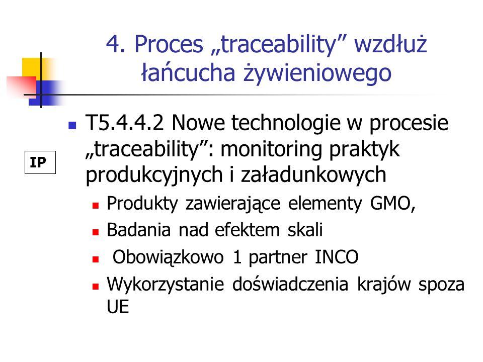 4. Proces traceability wzdłuż łańcucha żywieniowego T5.4.4.2 Nowe technologie w procesie traceability: monitoring praktyk produkcyjnych i załadunkowyc