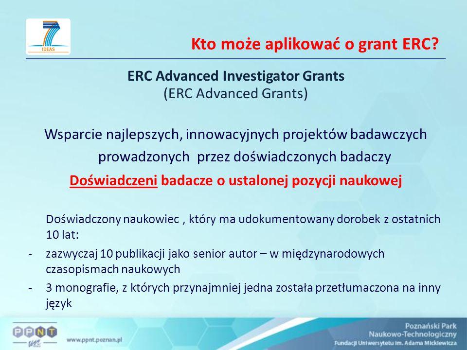 Kto może aplikować o grant ERC.
